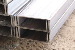 Metal profiles channel Stock Images
