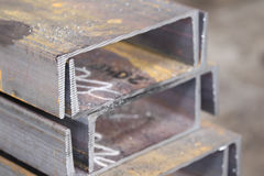 Metal profiles channel Stock Photography