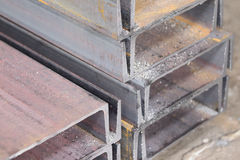 Metal profiles channel Stock Image