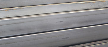 Metal profiles channel, side view Royalty Free Stock Photos