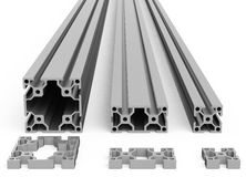 The metal profiles Royalty Free Stock Photography