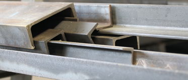 Metal profiles Royalty Free Stock Images
