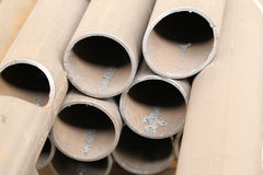 Metal profiles pipe Stock Photo