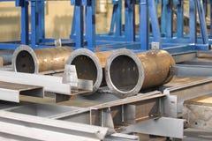 Metal profiles pipe Stock Photos