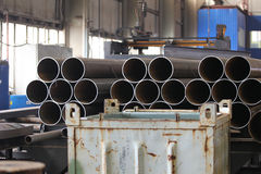 Metal profiles pipe Stock Photography