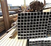 Metal profiles square rectangular pipe Royalty Free Stock Images