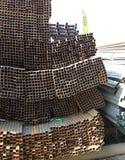 Metal profiles square rectangular pipe Stock Image