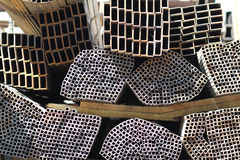 Metal profiles square rectangular pipe Royalty Free Stock Photography
