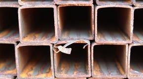 Metal profiles square rectangular pipe Royalty Free Stock Photography