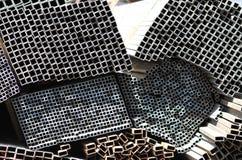 Metal profiles square rectangular pipe Royalty Free Stock Photos