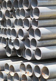 Metal profiles tube foundation for building structures. Steel royalty free stock image