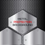 Metal protection, background texture. Vector illustration Royalty Free Stock Photos
