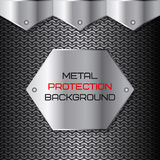 Metal protection, chain mail. Vector illustration Royalty Free Stock Photos