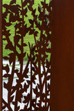 Metal punctured sculpture stock photos