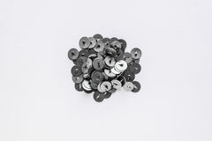 Metal pushpins on a white background Royalty Free Stock Photo