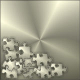 Metal Puzzle Background Royalty Free Stock Photo
