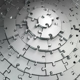 Metal puzzle background Stock Photos