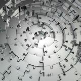 Metal puzzle background Stock Image