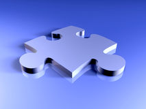Metal Puzzle piece Royalty Free Stock Photo