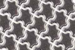 Metal puzzle pieces Stock Images
