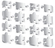 Metal Puzzle Pieces Royalty Free Stock Images