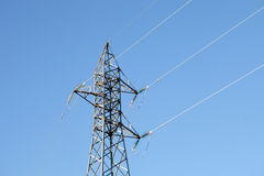 Metal pylon with a blue sky Royalty Free Stock Photography