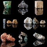 Metal que contiene los minerales Fotos de archivo