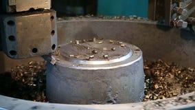 Metal que processa o corte de moedura de trituração de solda video estoque