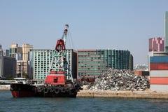 Metal que recicla industria imagen de archivo libre de regalías