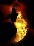 Metal quente derretido na fábrica Fotografia de Stock Royalty Free