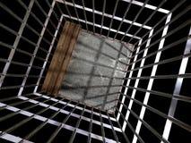 Metal Rahmen 3d, Konzept von Gefängnis 01 Lizenzfreies Stockfoto