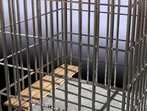 Metal Rahmen 3d, Konzept von Gefängnis 02 Lizenzfreies Stockfoto