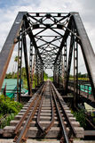 Metal rail road bridge. Stock Photography