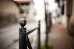 Metal railing Stock Photo
