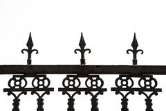 Metal railing Stock Image