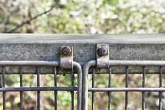 Metal railings Stock Image