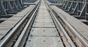 Metal railway bridge Stock Images