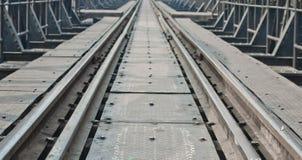 Metal railway bridge Stock Images