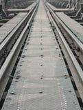 Metal railway bridge Royalty Free Stock Image