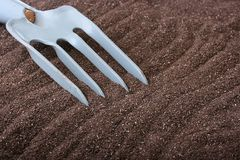 Metal rake Royalty Free Stock Images