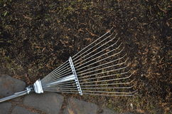 Metal rake Royalty Free Stock Image