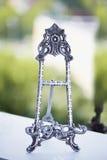 Metal rama dla fotografii lub książek Ślubny wystrój, wnętrze, klasyk Obrazy Royalty Free