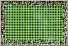Metal rama na sprawdzać tkaninie Zdjęcie Royalty Free