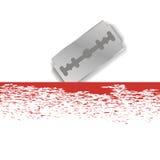 Metal Razor Blade Stock Image