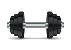 Metal realistic dumbbell Royalty Free Stock Images