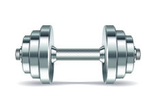 Metal realistic dumbbell royalty free illustration