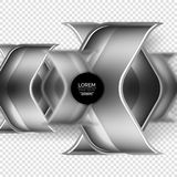 Metal realistic techno arrow background design Stock Photography