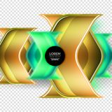 Metal realistic techno arrow background design Royalty Free Stock Photo