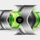Metal realistic techno arrow background design. Metal realistic techno green arrow background design template Royalty Free Stock Photo