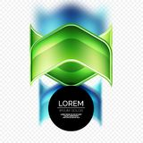 Metal realistic techno arrow background design Royalty Free Stock Image